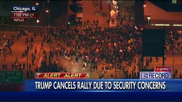 Trump Rally in Chicago Canceled Due to Violence